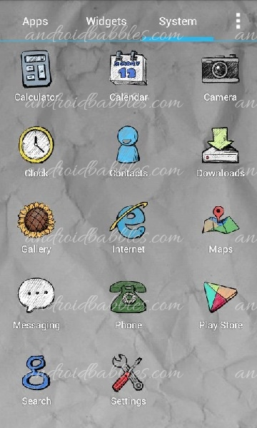 Doodle-Style-Theme-Android-app