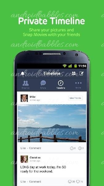 Line-Messenger-Android-Communication-app