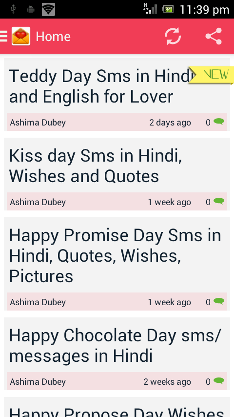 Daily Hindi Sms App for Android Free Download